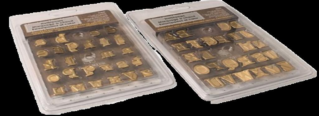Puntas con forma de letras para pirograbador