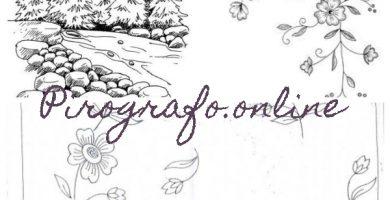 plantillas pirograbado letras