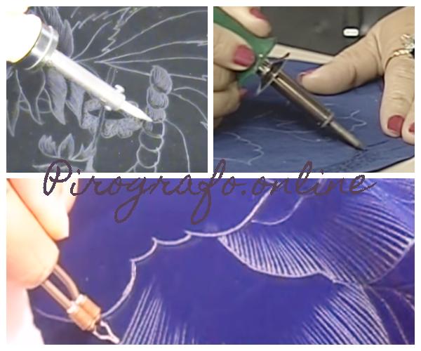 Tecnica del pirograbado en gamuza