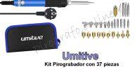 Umitive Kit de pirograbado con pantalla de lcd